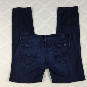 Women's 7 For All Mankind Straight Leg Jeans Sz 27